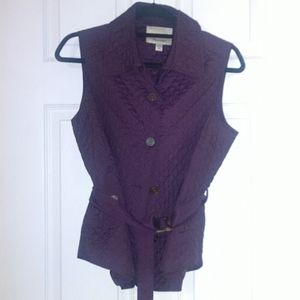 Lovely & Sophisticated Plum Quilted Vest